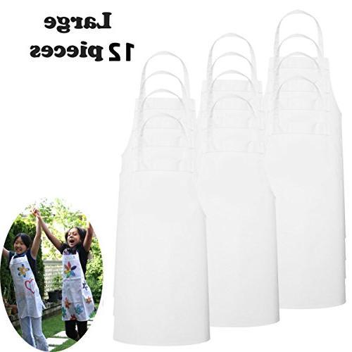 white fabric kids chef apron