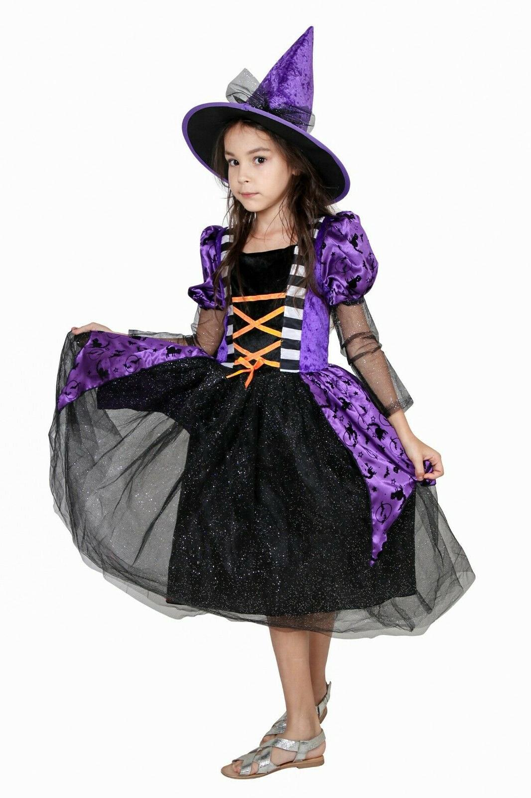Witch Girls Party Queen Fancy Dress