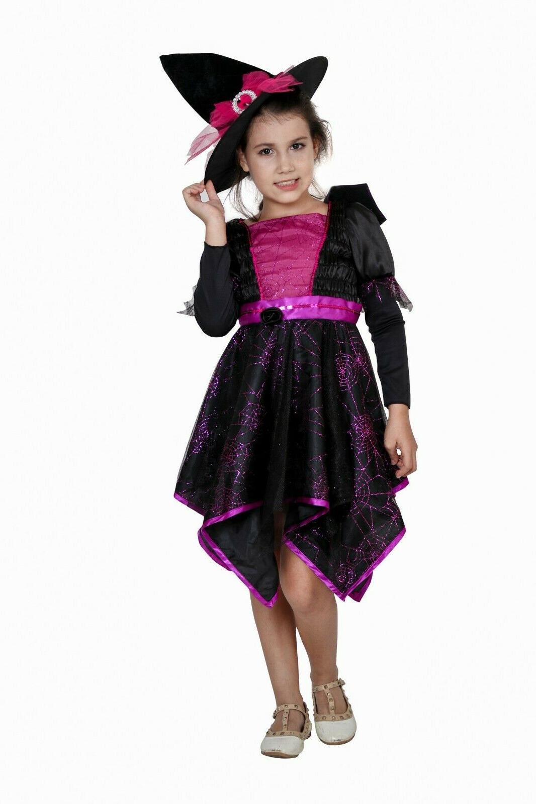 Witch Costume Halloween Party Deluxe Wizard Queen Fancy Dress