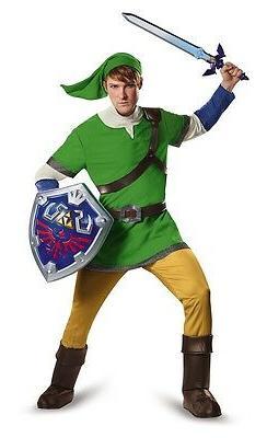 Zelda Deluxe Link Hylian Teen Costume, Green, Disguise