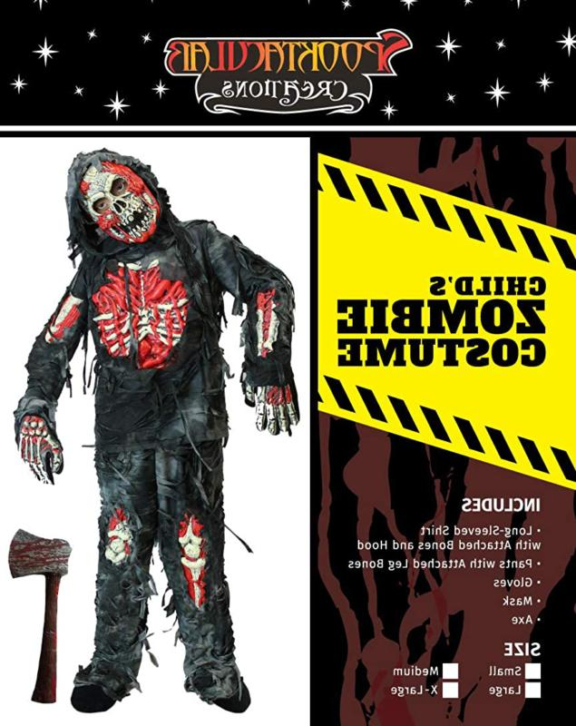 Spooktacular Creations Zombie Deluxe Costume Bloody