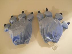 Disney Lilo & Stitch soft plush blue paws gloves mits Child