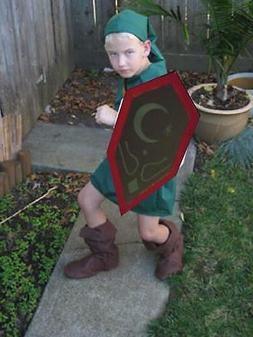 Link Costume MIRROR SHIELD kids Ocarina of Time Zelda Cospla