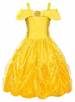 AmzBarley Little Girls Belle Princess Costume Toddler Kids P