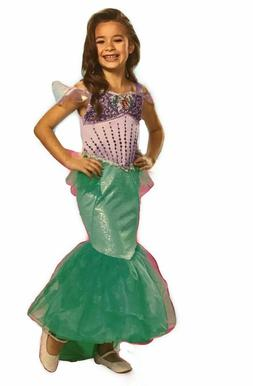Disney Little Mermaid Ariel Girls Purple Dress-Up Costume Dr