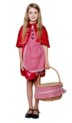Little Red Riding Hood Costume Kids Children Fairy Tale Hall