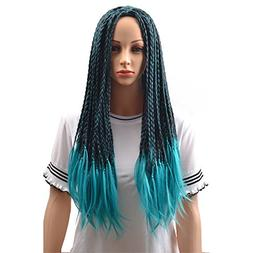 BERON Adult Child Kids Long Braided Fake Hair Wig for Hallow