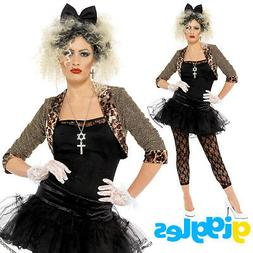 Madonna Costume 80s Wild Child Pop Star Womens Ladies Adult