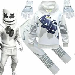 Marshmello DJ Mask Costume Kids Boys Fancy Halloween Music P