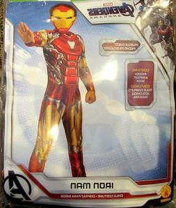Marvel Avengers Endgame Iron Man Costume & Mask kids M 8 10
