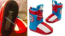 Disney Marvel Captain America Kid  plush Slippers Boots Faux