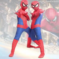 Mens Kids Super Hero Spider-Man Jumpsuit Cosplay Costume Spi