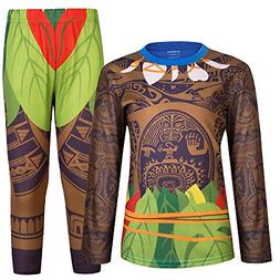 AmzBarley Maui Boys Pajamas Sets with Tops and Bottoms PJS K