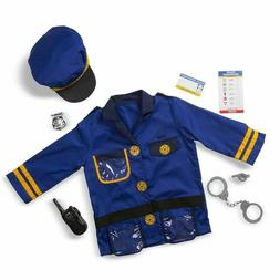 Melissa & Doug Police Officer Role Play Set Costume W/ Acces