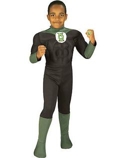 Morris Costumes Men's Green Lantern Muscle Chest Costume Chi
