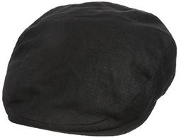 Stetson Men's Linen Ivy Cap, Black, Large