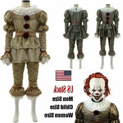 Halloween Stephen King Costume Cosplay Scary Joker Prank Pen