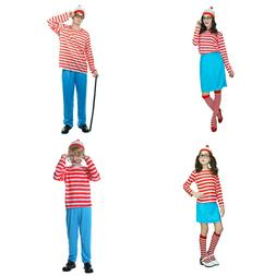 Mens Womens Kids Wally Costume Fancy Dress Party Costume Boo