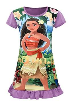 AOVCLKID Moana Comfy Loose Fit Pajamas Girls Printed Princes