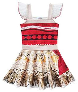 AOVCLKID Moana Costume Little Girls Dress up Toddler Baby Ch