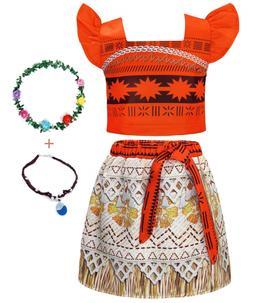 AmzBarley Moana Dress up Toddler Girls Princess Costume Fanc
