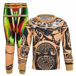 Amzbarley Moana Maui Costume Cosplay For Little Boy Pajamas