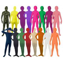 Morph Costume Kids 2nd Skin Suit Spandex Bodysuit Zentai Hal