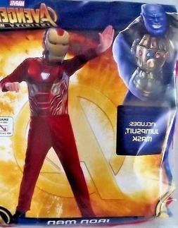 NEW Boys Kids IRON MAN Costume M  MARVEL Avengers Infinity W
