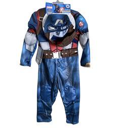 New Disney Marvel Avengers Captain America Costume Set Kids