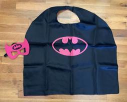 New Kids Girls Halloween Costume Superhero Cape & Mask Batgi