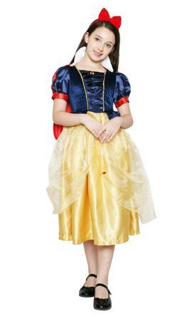 New Kids Girls Snow White Princess Dress Christmas Party Fan