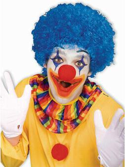 New Mens Womens Child Costume Blue Afro Clown Wigs