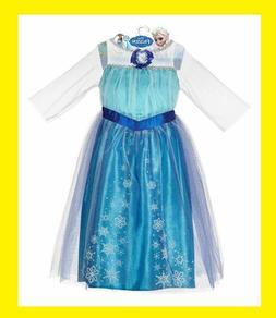 New Official Disney Frozen Elsa Dress Child Size 4-6X Costum