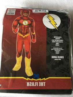 NEW Rubie's DC Comics Deluxe Muscle Chest The Flash Child Co