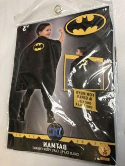 NEW Rubie's Batman Child Costume Cape Black Satin Kids Sup
