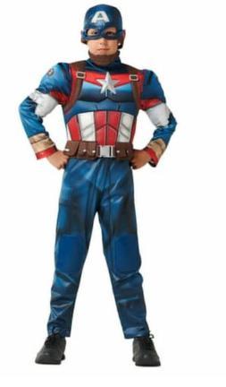 NWT Disney Marvel Captain America Costume For Kids Size 5/6
