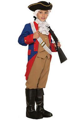Patriotic Soldier Colonial Revolutionary War Child Costume
