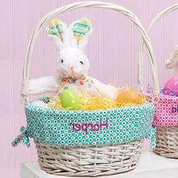 Personalized Colorful Dots Easter Basket
