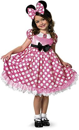 Pink Minnie Mouse Glow-in-the-Dark Dot Dress Costume - X-Sma