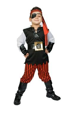 Pirate Costume boys Kids  buccaneer Size S M 5,6,7,8 Ahoy Ma