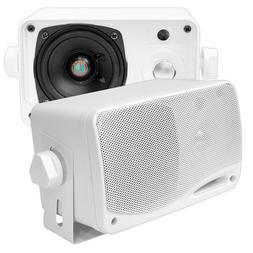 3-Way Weatherproof Outdoor Speaker Set - 3.5 Inch 200W Pair