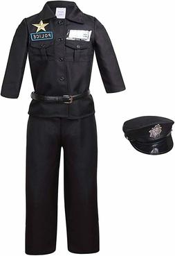 Yolsun Police Officer Costume Kids Deluxe Halloween Dress UP