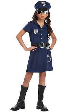 Brand New Police Officer Girl Patrol Cop Dress Child Costume