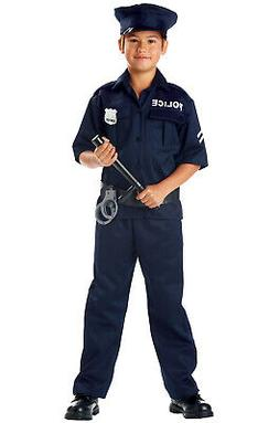 Police Officer Uniform Cop Outfit Child Halloween Costume