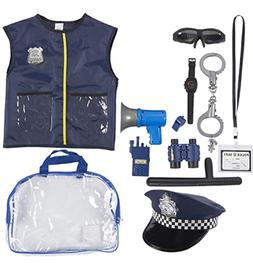 Police Uniform for Kids - 14-Piece Police Officer Costume Ro