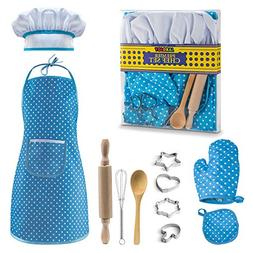 JaxoJoy Complete Kids Cooking and Baking Set - 11 Pcs Includ