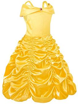 AmzBarley Princess Belle Costumes for Little Girls Toddlers