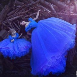Princess Dress Girl Cinderella <font><b>Costume</b></font> <