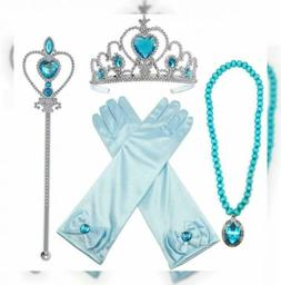 Alead Princess Elsa Dress Up Party Accessories et Gloves, Ti