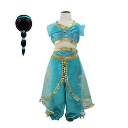 Princess jasmine Costume Outfit for Kids Girls Aladdin  Fanc